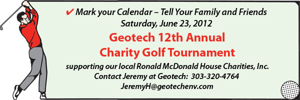 12th Annual Geotech Charity Golf Tournament