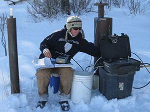 Rachell Millet sampling groundwater