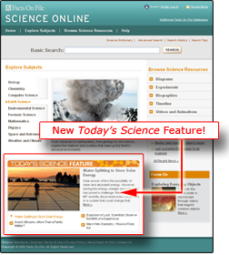 SCIENCE ONLINE New Todays Science Special Feature