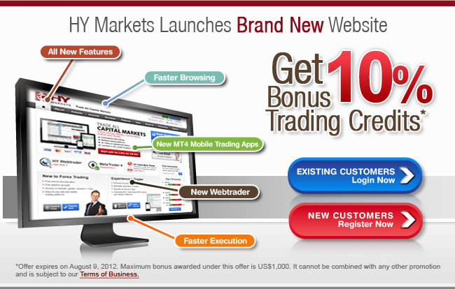 Start Forex trading with HY Market Brand new website and webtrader.