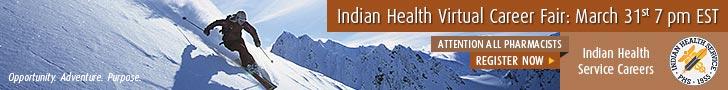 Indian Health Virtual Career Fair: March 31st