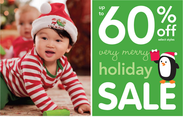 60% off Carter's very merry holiday sale!