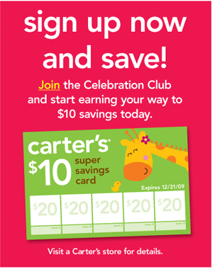 Join the Celebration Club and start earning your way to $10 savings today.
