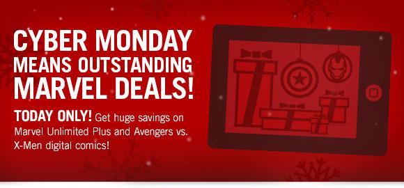 Cyber Monday means Marvel Deals!