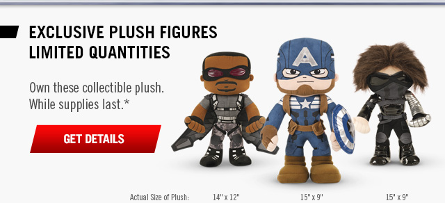 Limited Edition Plush Figures!