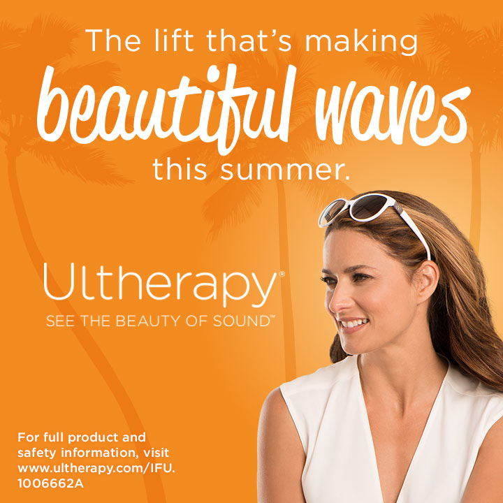 Ultherapy Summer Waves Campaign Practice Website Widget