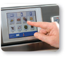 eikon - Exclusive easyToUCH™ screen technology with pictoral icons guarantees perfect results every time