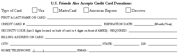 Form - credit card portion