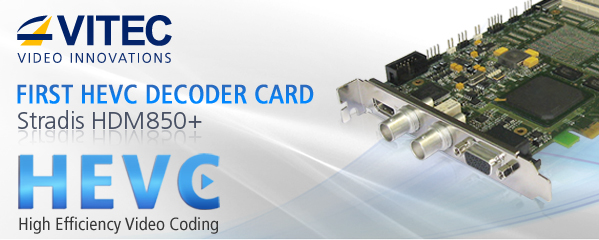VITEC's HEVC/H.265 Professional Decoder card