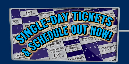 2010 Single Day Tickets & Shedule Out Now