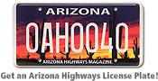 Get an Arizona Highways License Plate