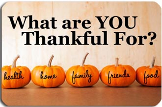 what we are thankful for