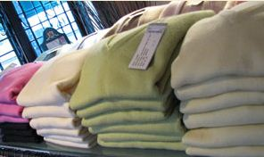 stacked cashmere sweaters