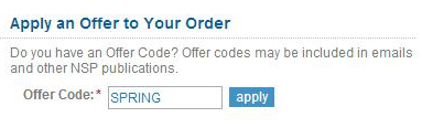 Enter code during Checkout.