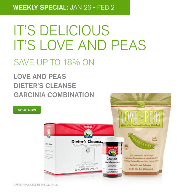 Save up to 18% on Love & Peas and more!