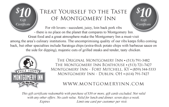 TREAT YOURSELF TO THE TASTE OF MONTGOMERY INN
