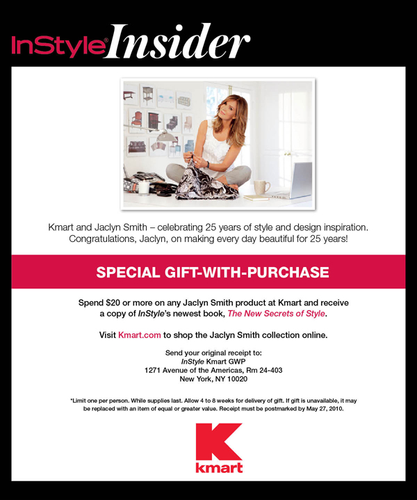 kmart EBLAST FNL Special Gift with Purchase of Jaclyn Smith from Kmart: The New Secrets of Style Book