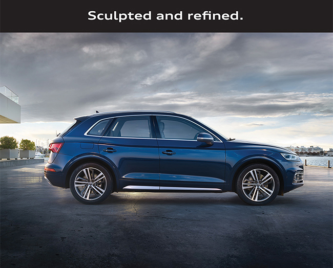 Sculpted and refined.