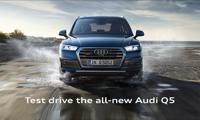 Test drive the all-new Audi Q5.
