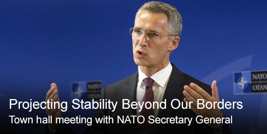 Projecting Stability Beyond Our Borders - Town hall meeting with the NATO Secretary General