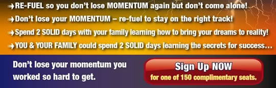 Don't lose your momentum you worked so hard to get. Sign Up Now!