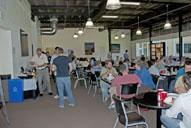 lunch break in exhibit area