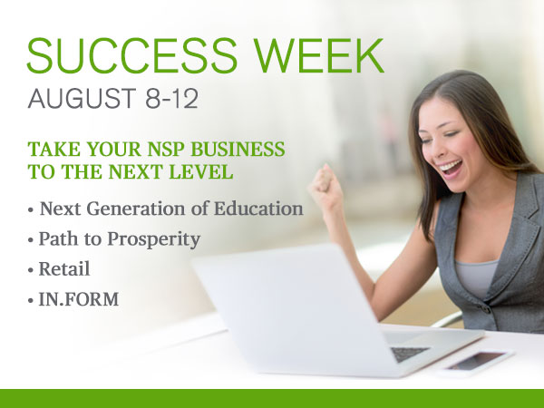 Don't Miss Our Best-ever Success Week Line-up! Aug. 8-12